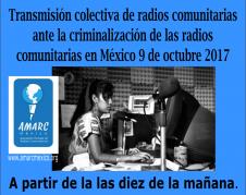 Campaña de la asociación AMARC. Foto: AMARC.