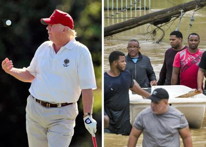 Adding ignorant insult to Puerto Rico's injuries | SocialistWorker.org SocialistWorker.org425 × 304Search by image Left: Trump on the golf course; right: Flooding in Puerto Rico