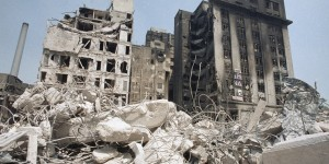 Imagen del terremoto en la ciudad de México el 19 de septiembre de 1985. Foto: Huffington Post.