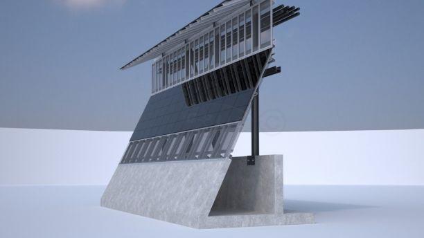 """El Departamento de Seguridad Nacional (DHS) de Estados Unidos comenzará a construir prototipos de muro fronterizo, como este prototipo, """"Window on the Real World"""", podría comenzar a levantarse este verano, incorpora energía solar. Foto: World Tribune."""
