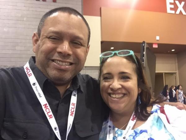 Rafael Collazo, de 'UnidosUS'  y Sinsi Hernández-Cancio, Directora de Salud y Equidad, de Families USA, e invitada habitual de Línea Abierta. Foto: Facebook.