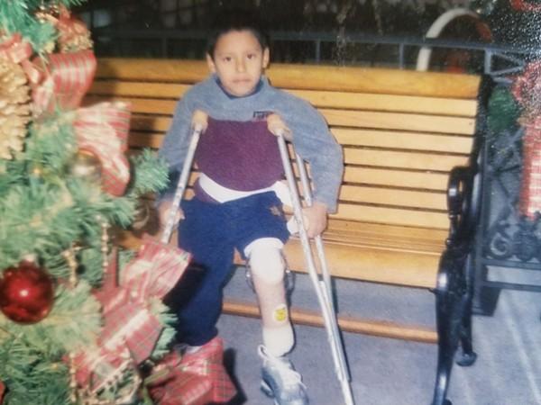 Felipe Abonza López cuando era niño. Foto: San Antonio Current
