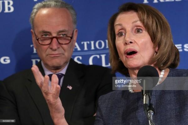 Charles  Schumer y Nancy Pelosi tenían un oferta preparada para Trump. Foto: gettyimages.com