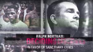 Imagen de la campaña de odio del candidato republicano de Virginia,  que circula en los medios.