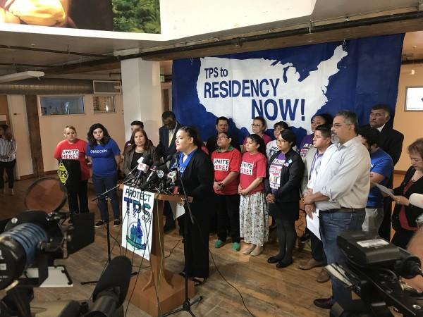 La Alianza para el TPS manifiesta su solidaridad con los nicaragüenses y hace un llamado para salvar este programa que brinda un estatus temporal hasta encontrar una solución permanente. Foto: TPS Aliance.