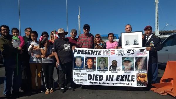 Veteranos y sus familiares celebran el Día de los Veteranos en Tijuana Baja California (Mx). Foto: Manuel Ocaño.