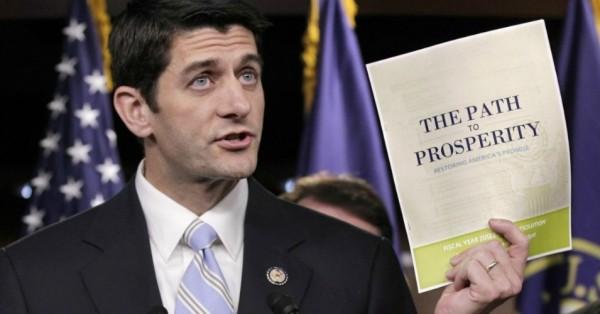 El congresista republicano de Wisconsin, Paul Ryan, presentando su plan fiscal. Foto: AP
