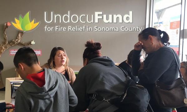 Familias migrantes solicitan ayuda. Foto: Facebook Undocufund.