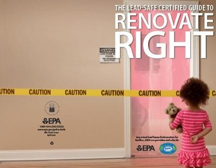 Propaganda contra el plomo en la pintura que amenaza la salud mental de los niños. Foto: www.greenbuildingadvisore.com.