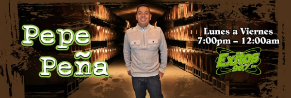 Pepe Peña locutor de emisora latina en Santa Rosa, CA. Foto: Éxitos 98.7 FM.