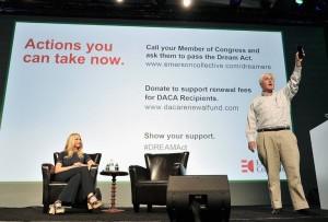 Laurene Powell Jobs en septiembre. Su organización, Emerson Collective, ha financiado una campaña para legislar en beneficio de los jóvenes inmigrantes indocumentados. Foto: Steve Jennings / Getty Images para TechCrunch.