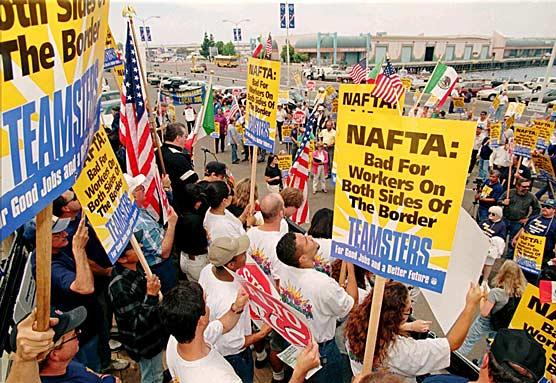 Protesta laboral contra Nafta. Foto: www.lab.org.uk