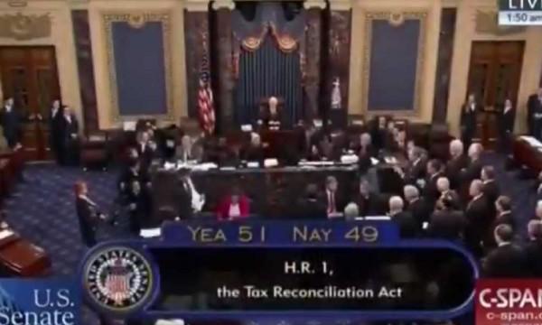 Resultados de la votación en el Senado. Foto: www.pliticaldig.com
