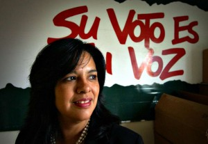 Lydia Camarillo de Southwest Voter Registration Education Project en San Antonio Texas. Foto: San Antonio Express News.