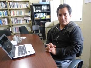 Carlos López, trabajador social voluntario en la Casa Migrante de Guatemala.