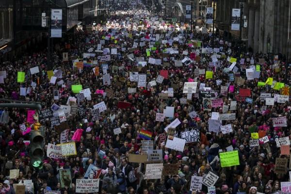 Marcha de las Mujeres en la ciudad de Nueva York, enero 21 de 20`7. Foto: Time