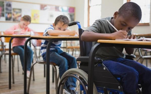 Niños con capacidades diferentes en una escuela texana. Foto. www.america.aljazeera.com.