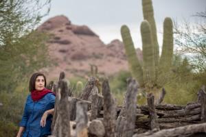 Valeria Fernández en el desierto de Arizona. Foto: Drew Bird.