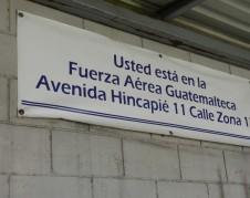 Aeropuerto de la Fuerza Aérea en Guatemala donde llegan los vuelos con los migrantes repatriados de EEUU.