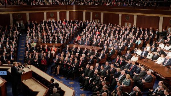El presidente durante su discurso del Estado de la Nación. Foto: wwwnbcbayarea.com