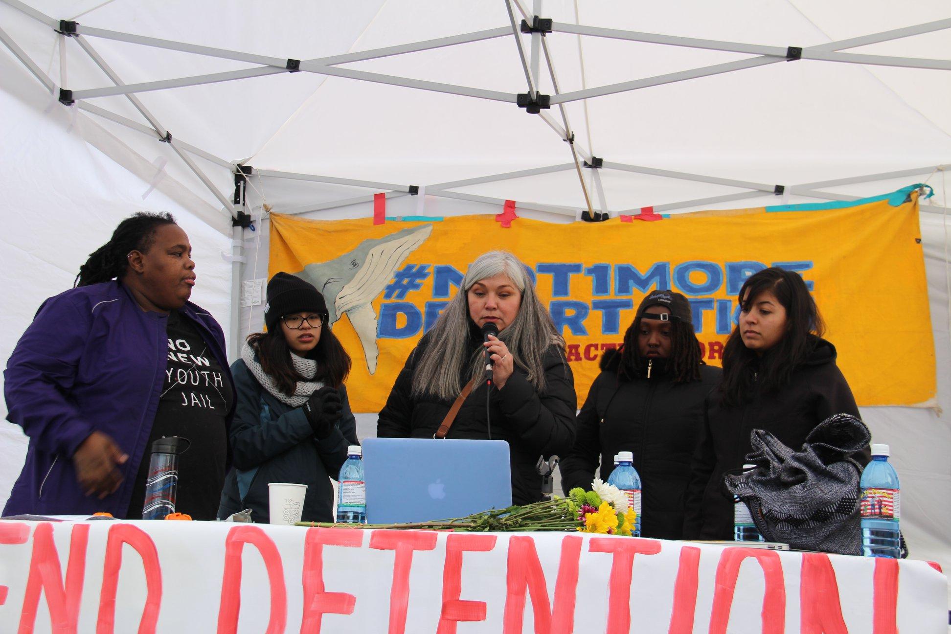 Aliados de la NWDC se movilizarán para apoyar a los huelguistas en el Centro de Detención del Noroeste. Foto: cortesía de Resistencia al NWDC.