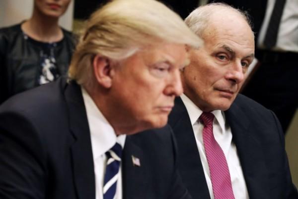 Presidente Trump y Jefe de Gabinete de la Casa Blanca, John Kelly. www.eaworldview.com.