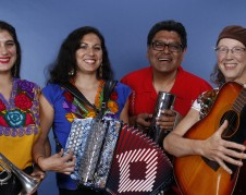 The musical group La Familia Peña-­‐Govea is comprised of parents Miguel Govea and Susan Peña and their daughters Cecilia and Rene. Photo courtesy of artist