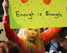 Uno de los slogans de campaña de este febril movimiento nacional de estudiantes que se hizo presente en Washington, DC, para manifestar su determinación de cambio.