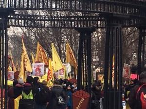 En el arranque de la marcha  , calentando motores. Foto: MVG