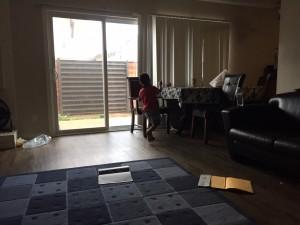 La casa que habitan Yocelyn y sus hijos.