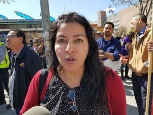 Michelle Reina, de California Nurses Association/Asociación Nacional de Enfermeras (os).