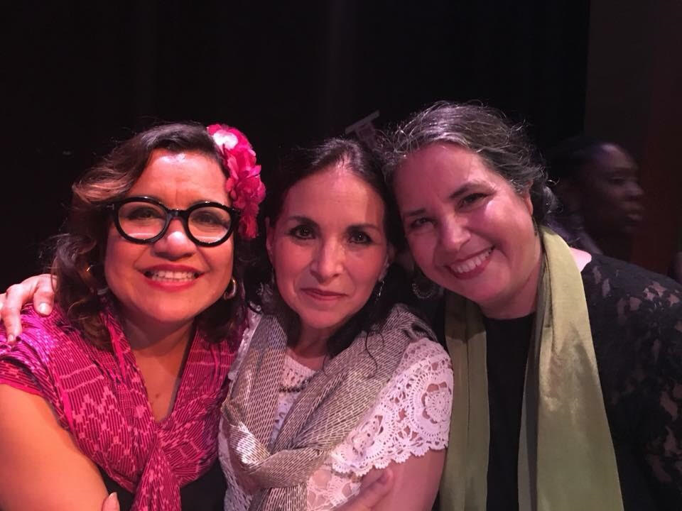 From left to right, Martha González of Quetzal and Entre Mujeres; Adriana Cao Romero, of Caña Dulce y Caña Brava; and María de la Rosa, of Diapasón. Photo: Chelis López.