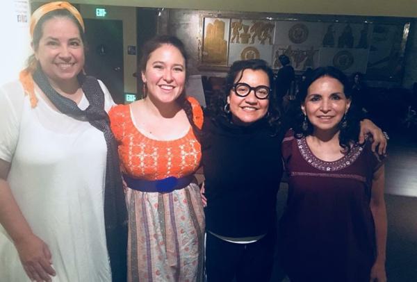 Soneras. De izquierda a derecha, María de la Rosa, Anna Arizmendez, Martha González, y Adriana Cao Romero.