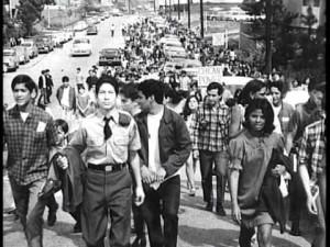 Uno de los Walkouts de Los Ángeles en 1968. Foto: Youtube.