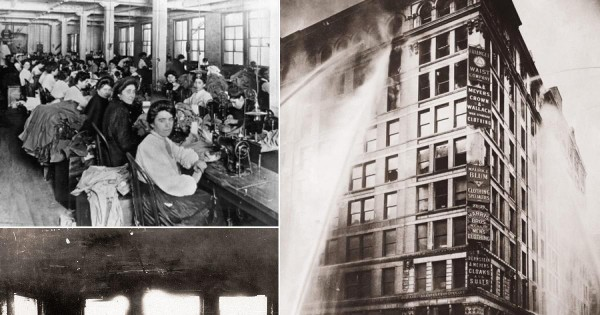 El 25 de marzo de 1911, 146 trabajadores de la confección, casi todas mujeres, murieron en un incendio en la fábrica de Triangle Shirtwaist Company, que aparece en la foto y que está ubicada en el Edificio Asch de 10 pisos en Greene Street y Washington Place, cerca del Washington Square Park en el Greenwich Village de la ciudad de Nueva York. Foto: Dailynews.com.