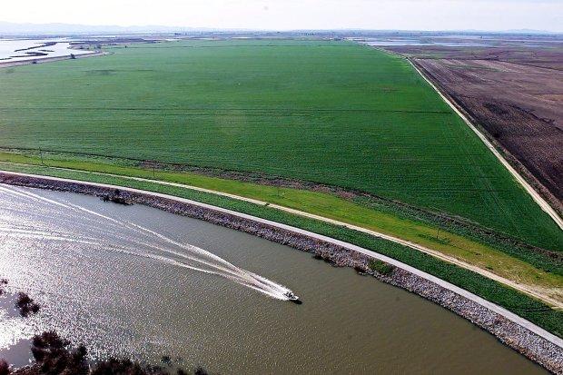 Vista panorámica del Delta del Río San Joaquín de Sacramento cerca de Isleton, California. Fotto: AP/ Rich Pedroncelli.
