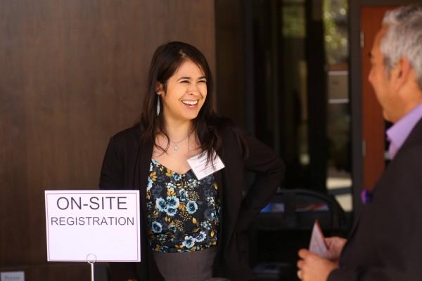 En el Foro Estado de Emprendedores Latinos 2018 realizado en el Auditorio CEMEX en la Escuela de Negocios de Stanford Graduate School, en Stanford, CA. Con Crista Arias en el GSB Knight Management Center. Foto: Facebook / Latino Entrepreneurship Initiative.