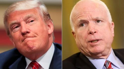 Donald J. Trump y John McCain. Foto: www.blacsportsonline.com.