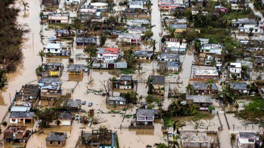 Puerto Rico sin ayuda tras la destrucción de María. Foto: www.reportenoreste.com.
