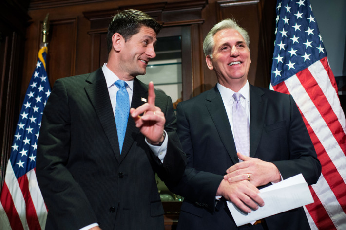 Paul Ryan y Kevin McCarthy. Foto: www.nymag.com.