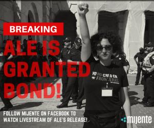En abril un juez federal le otorga libertad a la activista Alejandra Pablos. Foto: Mijente.com.