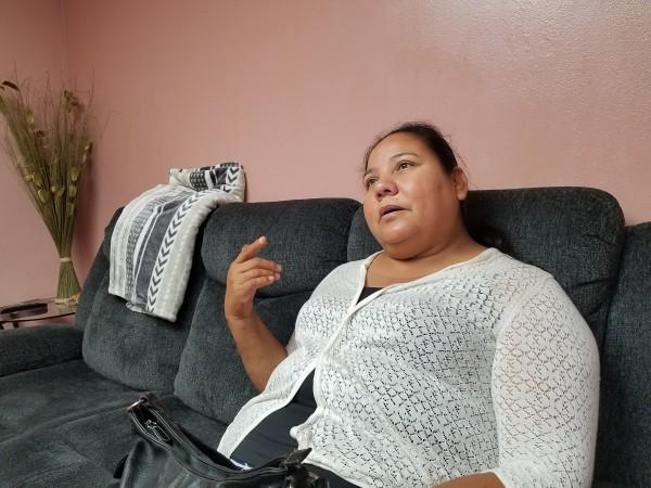 María Mora, tiene fe en que recuperará el sueldo que le robaron. Foto: Rubén Tapia.