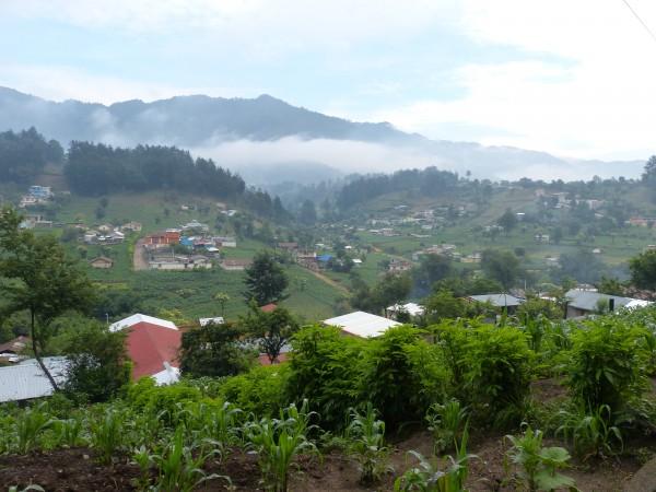 San Juan Ostuncalco, aldea La Unión lugar natal de Claudia Patricia Gómez González.
