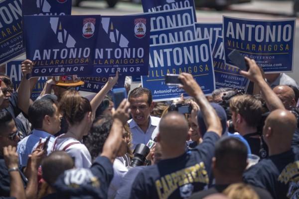 La gran popularidad de Antonio Villarraigosa, que contaba con el apoyo de algunos sindicatos, no alcanzó sin embargo para disputar un lugar en la boleta de noviembre, por la gubernatura de California. Foto: www.ktla.com.