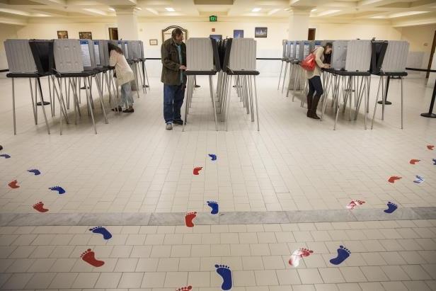 Votantes en elecciones primarias. Foto: www.uspressfrom.com.