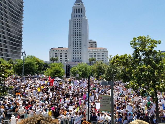 En el centro de la ciudad de Los Ángeles, CA. Foto: Rubén Tapia.