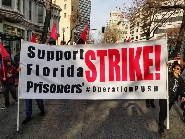 Manifestación en apoyo a los presos de La florida. Foto: www.peoplesworld.org.