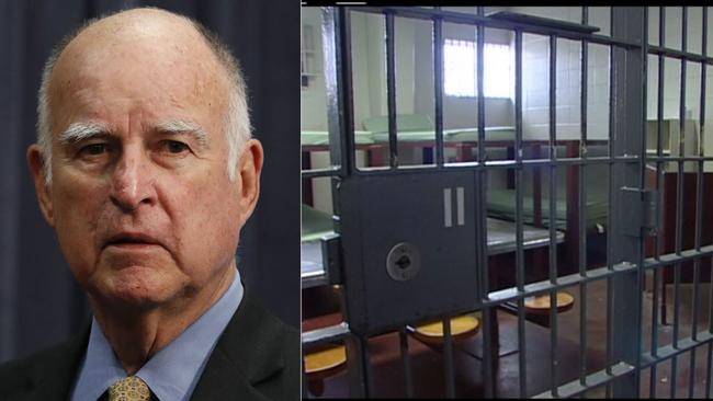 El gobernador de California, Jerry Brown firma un histórico proyecto de ley para eliminar la fianza de los sospechosos en espera de juicio. Foto: www.abc7.com.