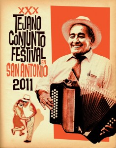 Gilberto Pérez, acordeonista de la música de Conjunto Tejano. Foto: Guadalupe cultural Center.