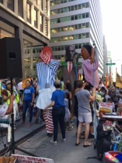 En la marcha-protesta de los trabajadores de Immokalee en Nueva York.